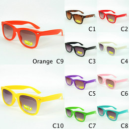Wholesale Colorful Candy Kids Sunglasses Classic Children Sun Glasses Mixed Colors Free Shipment