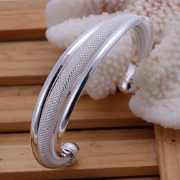 Wholesale hot sale Sterling Silver fashion jewelry charm mesh bangle bracelet B19