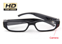 Wholesale 720 fps Camera Eyewear Ultra thin flat glasses on the left lens Hidden Spy SunGlasses camera Dvr Video amp Audio Recorder Mini DV