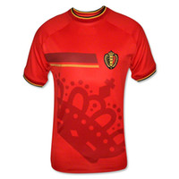 Wholesale Top Thai Quality Brazil World Cup Belgium Soccer Jersey Football Shirt Customize Red Home Jereys