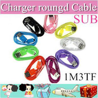 Wholesale 100pcs Micro USB Mains Charger roungd Cable Wire For samsung galaxy S2 S3 S4 note note HTC M3FT