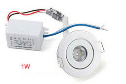 MOQ20 1W Cabnet LED Ceiling Downlights Bulb 1 Watt Recessed Down Lights Bulbs CE ROSH Warm white Cool white Lamp 2 Yars Warranty-Express