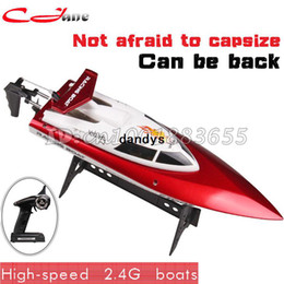 Wholesale Supernova Sale New Channel G RC Remote Control High Speed Racing Boat FT007 Gifts Orange Summer toys dandys