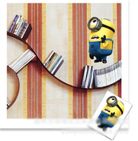 Wholesale 201404Q Despicable Me small yellow super dads who switch stickers notebook stickers wall stickers Color sent at random