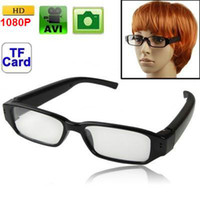 Wholesale HD P Digital Video Camera Camcorder CMOS MP Glasses Eyewear Spy DVR Ultra thin flat Sunglasses Hidden Camera Eyewear mini DV