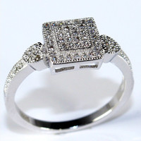 Wholesale Wedding Infinity Engagemen Rings New Sterling Silver Jewelry Vintage Rings for Women Crystal CZ Diamonds Fashion Halo Ring