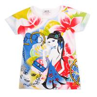 Girl Summer Standard Nova Kids clothes girls pure cotton short sleeve t shirts 2014 new arrival summer children cute fashion shirt tees top A229