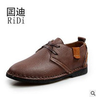 Wholesale Men Handmade Leather Shoes Loafers Black Brown Coffee Color prs S4