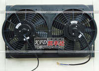Wholesale Car double fan air conditioner electronic fan w14x23 tank condenser v24 refires accessories