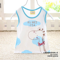 Unisex Summer 100% Cotton Children clothes boy's Children's clothing 2013 summer child baby vest sets for summer