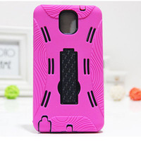 Cheap 2 in 1 Robot Cases Heavy Duty Hybrid Rugged Impact Rubber Shockproof Hard Back Case Cover for SAMSUNG GALAXY Note 3 N9000 200pcs