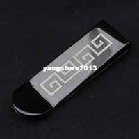 Wholesale Men s money clip great wall design black metal wallet top quality stainless steel MC
