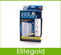 Wholesale 2014 New Side Socket Space Saving Swivel Surge Protector More Convenient US Standard Plug