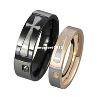 With Side Stones Party Prong setting New arrival nice cubic zirconia stone couple ring charm jewelry rose gold and black color for men and women CR-022