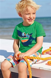 Wholesale 2014 new summer boys Next clothing baby the whale short sleeve t shirt grid pant boys leisure suit