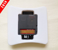 Wholesale Free DHL shipping New Genuine Sliver SDHC Dual Core Game Adapter Flash Cards For DS XL DSi DSL NDS Memory Card Reader