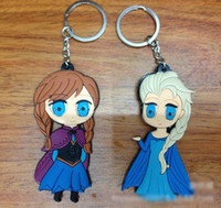 Wholesale 201404Q Dairy Queen ice Romance Adventure Princess Ann Circle Keychain keychain snowman soft sided Color sent at random