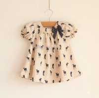 Wholesale New fashion Girls T Shirt Kids TOPS short sleeve Blouse deer fawn pattern Children clothing outfit B1301
