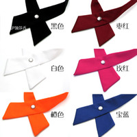 Wholesale Black Rose Red women men s Cross collar tie monochrome unisex bow tie high quality bowtie