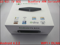 Set Top Box DVB-T  10pcs CX-921 RK3188 Quad Core ARM Cortex A9 1.6 GHz Android 4.2 2GB+8GB WIFI DLNA OpenGL ES2.0 3D Acceleration Android TV Box Set Top Box