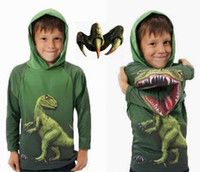 Wholesale New Arrival Hot Children Dinosaur Dino Hoodie boy cartoon sweater pullover Children s Outerwear