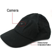 Wholesale 1280 fps M Pixel Spy Baseball Cap Hat mini Camera Hidden DVR Camcorder Video Recorder