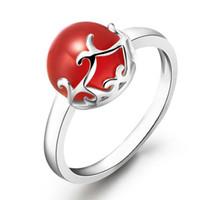 Wholesale Fine Jewelry sterling silver rings agate rings fashion carnelian rings ss1036