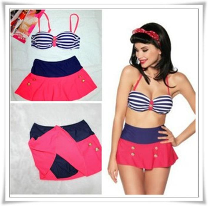 High Waisted Skirt Bikini