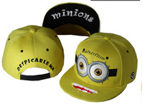Wholesale 1404c Despicable Me Daddy Thief little yellow people along the baseball cap hip hop hat flat hat for men and women