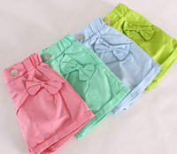 Wholesale High Quality Hot Pants For Girls Butterfly Summer Girls Clothing Short Pant Candy Color Green Blue Pink C2165