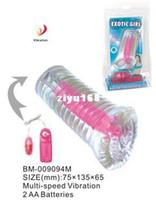 Productos del sexo para el hombre BAILE BM-009094M transparente pequeña Masturbadores vibra Fleshlight juguetes para los hombres adultos de mini muñeca del sexo - al por mayor