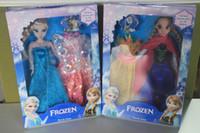 Wholesale New Arrival Frozen Dolls Frozen Princess Elsa amp Anna Doll figure Toy in box action fgure change clothes