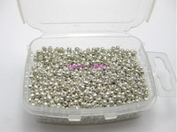 Crystal   Free shipping 450 Grams 2mm Seed Beads BRIGHT METALLIC SILVER