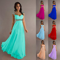Model Pictures Sequins Sleeveless Cheap Free Shipping In Stock Prom Dresses Chiffon Bridesmaid Dresses Floor-Length Party Gowns Sweetheart Neckline Beads Sleeveless L49