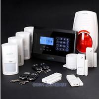 GSM SMS Alarm System   Wireless&Wired GSM SMS Burglar Intruder Fire Alarm System+Outdoor Flash Siren