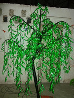 willow tree - 945pcs LED Bulbs m Height Beautiful LED Artificial Willow Tree Light Green Color