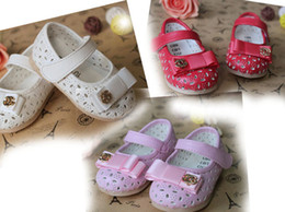 Wholesale 2014 Spring New Korean version Ribbon bow baby shoes Hollow girl shoes UsSIZE DROP SHIPPING shoes sale shoes shop pairs WJ