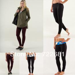 Wholesale Lululemon Wunder Under Pant LULU LEMON YOGA PANTS FOR GIRLS SIZE Sport Wear Long Pants