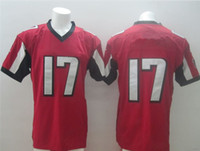Football Men Short Newest Elite Football Jerseys #17 Jersey New Move Size 40-56 Black And Red Stitched Mix Match Order American Football JERSEY