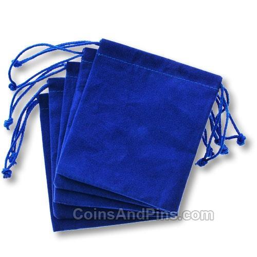 Blue velvet bag velour gift bags jewelry pouches cm