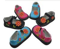 Summer Children's shoes  Sunflower girls dress shoes.Genuine leather Children's shoes .cheap shoes .china shoes ,shoes shop .OUTLETS,drop shipping.3PAIRS 6pcs.HX