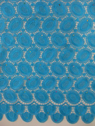 Wholesale African water soluble embroidery chemical lace fabric in elegant colors French lace fabric yds pc wedding dress fabric