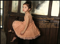 Wholesale Girl dress children s clothing small sexy girls all lace backless dress colors