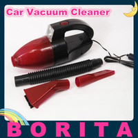 Wholesale 12V DC Mini Portable W Car Vacuum Cleaner Dry and wet dual purpose with LED lights