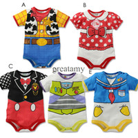 Wholesale Girls boys baby onesies romper Rompers newborn baby infant clothing bow neck tie style kids bodysuit toddler jump suits