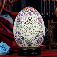Wholesale Authentic Jingdezhen Ceramic vases pastels hollow double ivory porcelain vase water points peach ornaments