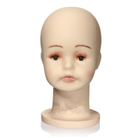 Wholesale S Size Children Manikin Head Hats Wig Mould Show Stand Model Mannequins Display