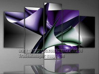 More Panel Oil Painting Abstract 5 Panels 100% Handpainted High End Purple Canvas Abstract Art Oil Painting 5 Piece Wall Art Home Decor S0100