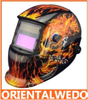 Wholesale No battery need Solar auto darkening filter welding helmet eye mask for MIG MAG CT TIG KR welding ma new