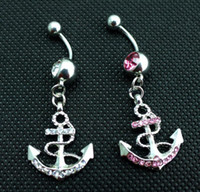 anchor piercing jewelry - 0438 The anchor style Belly Button Navel Rings mix colors navel belly ring body piercing jewelry